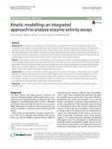 Kinetic modelling: an integrated approach to analyze ... - Plant Methods