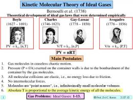 Kinetic Molecular Theory of Ideal Gases