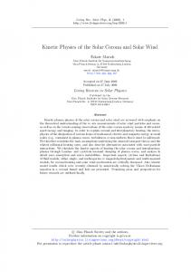 Kinetic Physics of the Solar Corona and Solar Wind - Lunar and ...