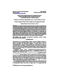 KINETIC SPECTROPHOTOMETRIC DETERMINATION OF SOME ...