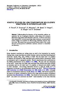 Kinetic studies on low-temperature solid-state reactions in interstellar