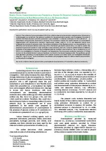 Kinetic study, characterization and theoretical studies of oxidative