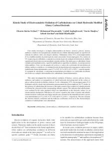 Kinetic Study of Electrocatalytic Oxidation of Carbohydrates on Cobalt ...
