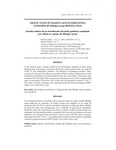 KINETIC STUDY OF PALMITIC ACID ... - SciELO Colombia