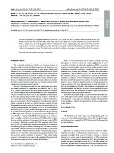 KINETIC STUDY OF SELECTIVE GAS-PHASE OXIDATION OF ...