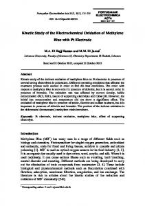 Kinetic Study of the Electrochemical Oxidation of Methylene Blue with