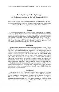 Kinetic study of the hydrolysis of cellulose ... - Wiley Online Library