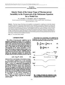 Kinetic Study of the Linear Stage of Thermocurrent ... - Springer Link