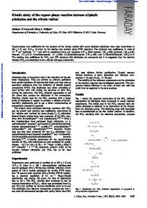 Kinetic study of the vapour-phase reaction between