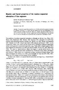 Kinetics and fractal properties of the random ... - Semantic Scholar