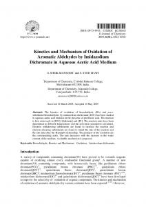 Kinetics and Mechanism of Oxidation of Aromatic Aldehydes by