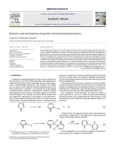 Kinetics and mechanism of pyrrole chemical
