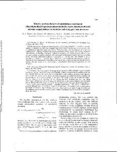 Kinetics and mechanism of substitution reactions of