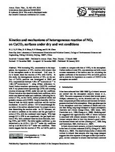 Kinetics and mechanisms of heterogeneous reaction of NO2 on