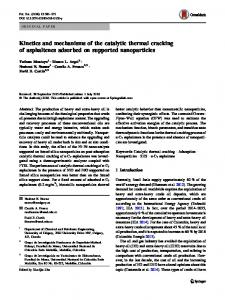 Kinetics and mechanisms of the catalytic thermal cracking of ... - CORE