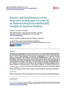 Kinetics and Stoichiometry of the Reduction of Hydrogen Peroxide by