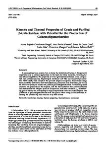 Kinetics and Thermal Properties of Crude and ... - Semantic Scholar