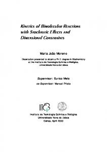Kinetics of Bimolecular Reactions with Stochastic ...