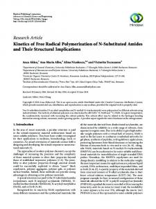 Kinetics of Free Radical Polymerization of N-Substituted Amides and ...