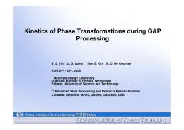 Kinetics of Phase Transformations during Q&P