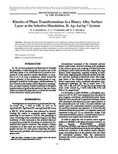Kinetics of Phase Transformations in a Binary Alloy ... - Springer Link