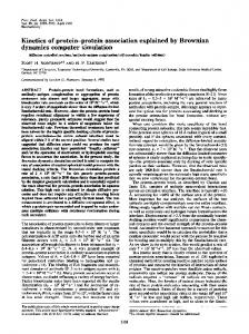 Kinetics of protein-protein association explained by ... - Europe PMC