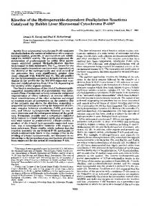 Kinetics of the Hydroperoxide-dependent Dealkylation Reactions ...