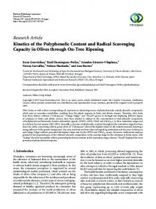 Kinetics of the Polyphenolic Content and Radical Scavenging ...