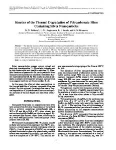 Kinetics of the Thermal Degradation of Polycarbonate Films ...