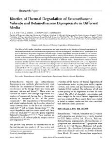 Kinetics of Thermal Degradation of ... - Semantic Scholar