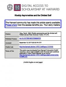Kinship asymmetries and the divided self.pdf