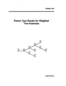 Kleene-Type Results for Weighted Tree-Automata