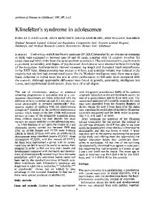 Klinefelter's syndrome in adolescence - PubMed Central Canada