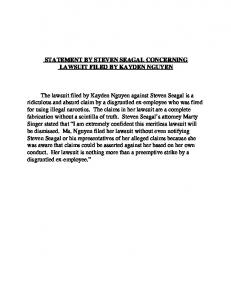 K:\MDS\mis\Proposed Statement By Seagal.wpd - ABC News