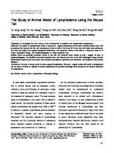 KMJ The Study of Animal Model of Lymphedema ... - KoreaMed Synapse