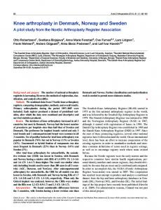 Knee arthroplasty in Denmark, Norway and Sweden