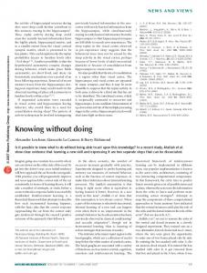 Knowing without doing - Nature
