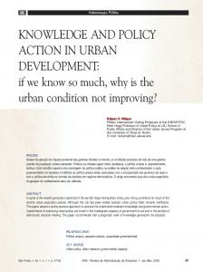 KNOWLEDGE AND POLICY ACTION IN URBAN ... - SciELO