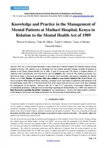Knowledge and Practice in the management of ...