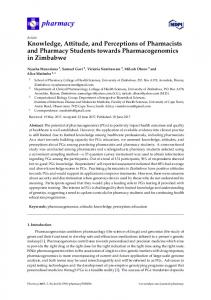 Knowledge, Attitude, and Perceptions of Pharmacists and ... - MDPI