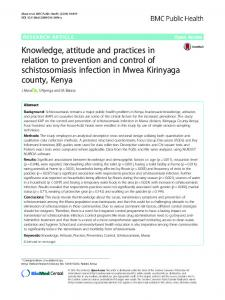 Knowledge, attitude and practices in relation to prevention and control ...