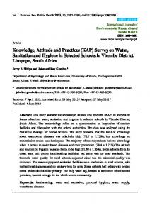 Knowledge, Attitude and Practices (KAP) Survey on Water - MDPI