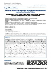 Knowledge, attitude and practices of antibiotic usage among university