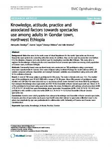 Knowledge, attitude, practice and associated ... - BMC Ophthalmology