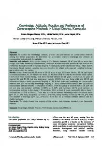 Knowledge, Attitude, Practice and Preferences of