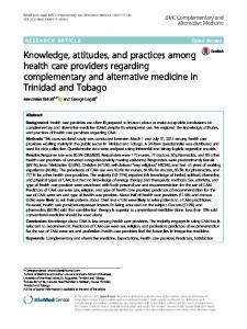 Knowledge, attitudes, and practices among health