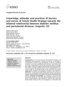 Knowledge, attitudes and practices of doctors and