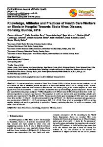 Knowledge, Attitudes and Practices of Health Care Workers on Ebola