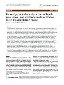 Knowledge, attitudes and practices of health