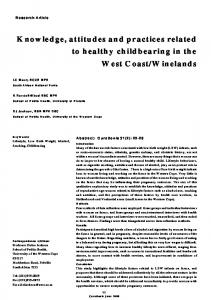 Knowledge, attitudes and practices related to healthy childbearing in ...
